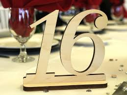 table numbers for wedding fascinating wooden numbers wedding unpainted wood table numbers