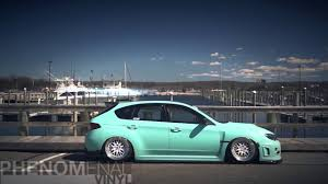 matte teal car modified car scene phenomenal vinyl matte mint green sti youtube