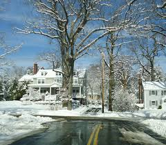 Winter Houses File Winter Scene Summit Nj With Trees And Road And Houses Jpg