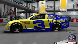 paint schemes dale earnhardt sr wrangler paint scheme on nascar u002714 youtube