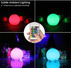 safe rechargeable rgb dimmable 16 mood color changing led globe