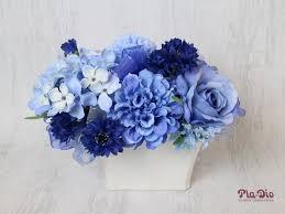 white and blue floral arrangements pla diosilkflowers rakuten global market blue series white