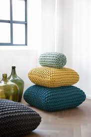 home decor theory beautiful knitted floor cushions floor pouf
