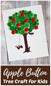 apple button tree craft for kids rhythms of play