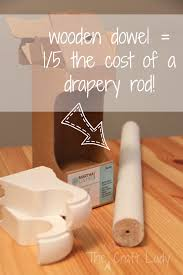 Rod Curtain Short Drapery Rods The Crazy Craft Lady