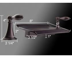 Roman Bath Faucet by Tub Waterfall Roman Bathtub Double Handle Bath Faucet 056orb