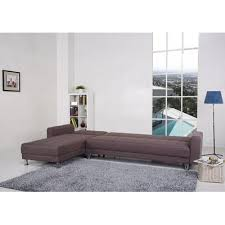 Seater Chocolate Brown Fabric ClicClac Corner Sofa Bed  Bed Optio - Corner sofa london 2