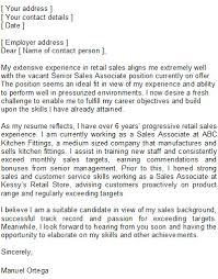 cover letter sles uk sales associate cover letter sle