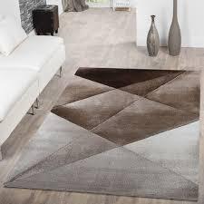 Wohnzimmer Beige Teppich Kurzflor Teppich Zeitlos Abstrakt Muster Design Wohnzimmer