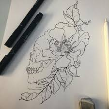 gallery flower tattoo sketches drawing art gallery