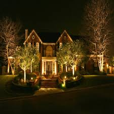 outside landscape lighting kits doubly beautiful landscape