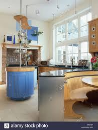 Blue Kitchen Island Large Blue Kitchen Island Unit Stock Photos U0026 Large Blue Kitchen