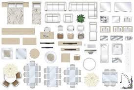 2d furniture floorplan top down view style 4 psd 3d model