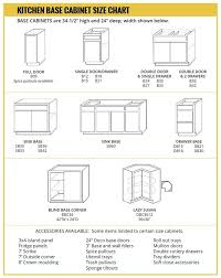 standard height of kitchen base cabinets base cabinet size chart builders surplus modular kitchen