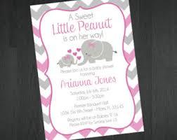 elephant themed baby shower invitations iidaemilia com