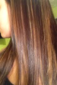 red and blonde with caramel highlights on dark hair hair
