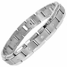 mens bracelet titanium images Men 39 s 1 ct t w diamond link bracelet in titanium 8 25 quot view jpg