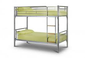 the bertie bunk bed is a sturdy metal bunk bed frame with flat