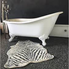 Zebra Bath Rug Floor Rug Bath Mat Zebra Design By Hk Living Cranmore Home