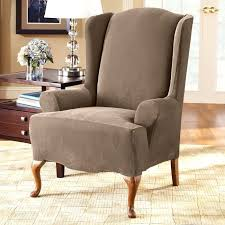 slipcover wing chair slipcovers for wingback chair makushina com