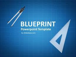 blueprint sketch drawing powerpoint template slidesbase