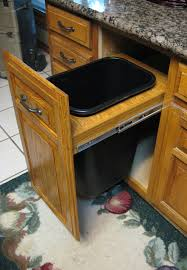 kitchen cabinet garbage can marvelous honey oak retrofit on kitchen cabinet trash can