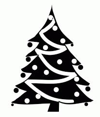christmas tree black and white designcorner