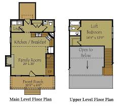 small cabin with loft floor plans small guest house plan guest house floor plan