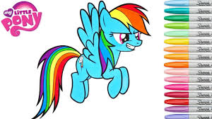 my little pony coloring book rainbow dash mlp colouring pages