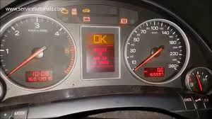 audi a4 check engine light reset audi a4 2001 2005 service light reset in 3 steps youtube