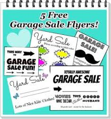 free printable garage sale signs flyers creative ideas