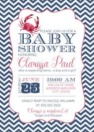 what 5 teach me crab themed baby shower invitation