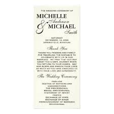 Elegant Wedding Program Simple Black And White Calligraphy Wedding Program Zazzle Com