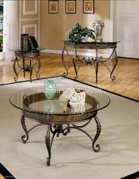 glass and metal coffee tables for sale rectangular wrought iron