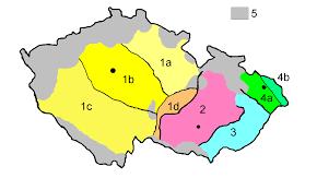 Map Of Czech Republic Czech Dialects U2022 Mapsof Net