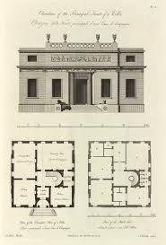 elevation and plans of a villa 1779 архитектура