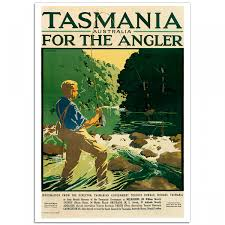 australia tourism bureau tasmania for the angler vintage travel poster just posters