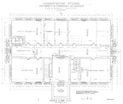 Floor Plan Source by Unl Historic Buildings Administration Building Old Building Plans