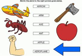 match the words starting with a