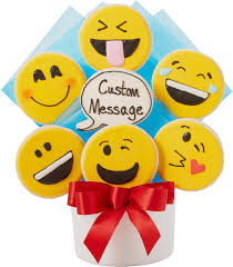cookie emoji custom emoji cutout cookie bouquet