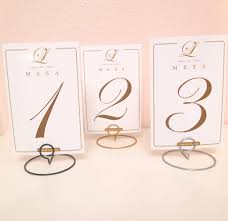 Table Card Holders by Set Of 10 Wedding Round Shaped Table Number Holders