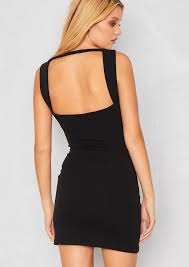 black bodycon dress rosalia black open back bodycon dress empire