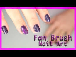 fan brush nail art manicure matte manucure youtube