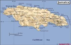 jamaica physical map maps of jamaica fiji press matanitu tu vaka i koya ko viti