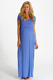 maxi dresses periwinkle solid sleeve maternity maxi dress