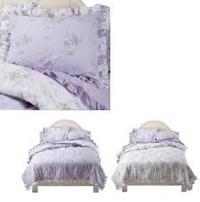 simply shabby chic king comforter set ashwell tiara lilac cottage