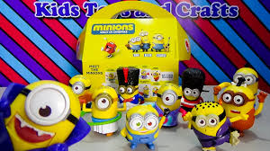 minions 2015 mcdonald u0027s happy meal toys complete 10