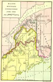 Maine Road Map A Map Of Maine And New Brunswick At The Time Of The Aroostook War