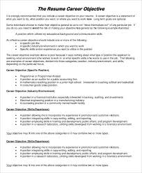 Objective Of Resume Examples by 29 Resume Examples Free U0026 Premium Templates