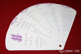 Diy Wedding Program Fan Diy Fan Programs Aylee Bits